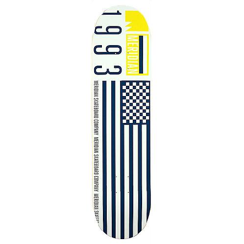 Meridian skateboards FLAG 93 DECK 8.0 White