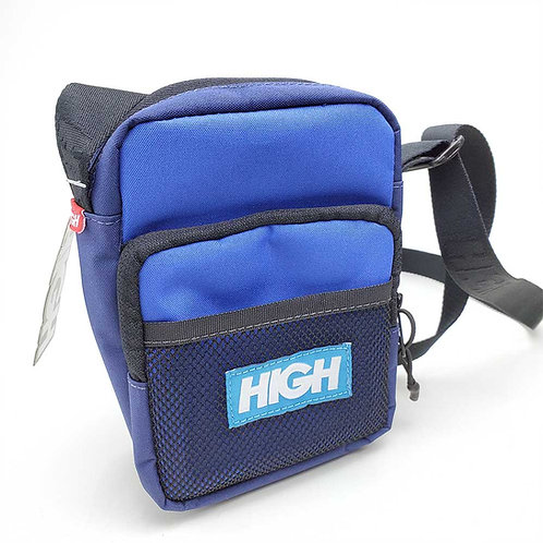 HIGH COMPANY Shoulder Bag Label Blue