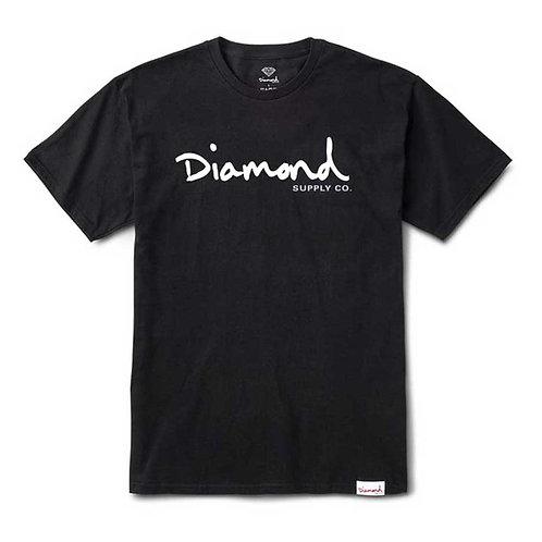 Diamond Supply Co. OG SCRIPT OVERDYE TEE BLACK