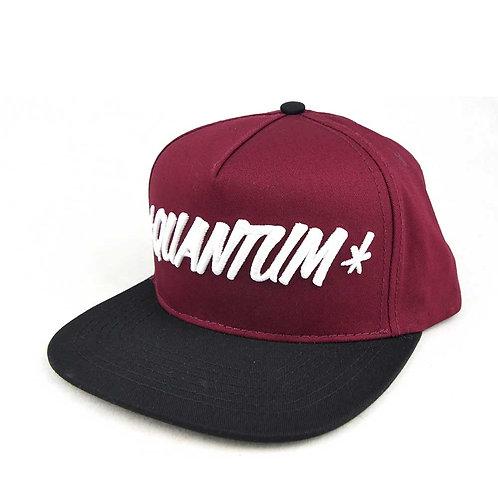 QUANTUM GOODS TEXT LOGO HAT WINE RED