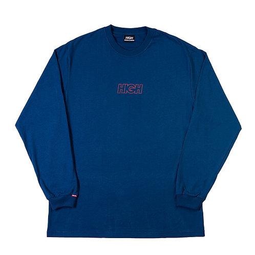 HIGH COMPANY Longsleeve Outline Logo Deep Blue