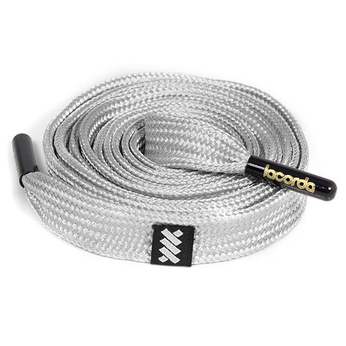 LACORDA SHOELACE BELT OG SILVER