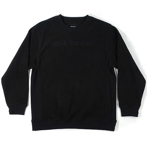 40s and Shorties TEXT LOGO CREW SWEAT BLACK