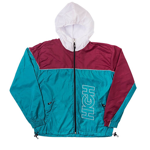 HIGH COMPANY Water Resistant Jacket Outline Logo Wine