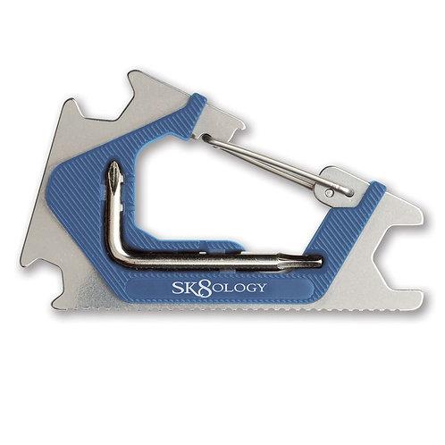 SK8OLOGY CARABINER SKATE TOOL BLUE