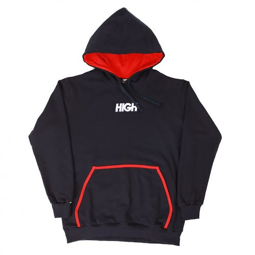 HIGH COMPANY Hoodie Logo NAVY/RED