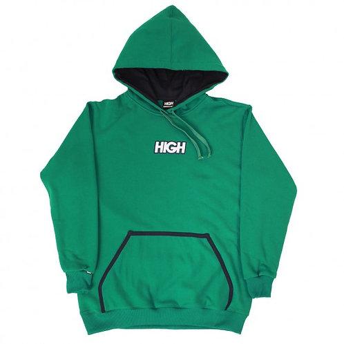 HIGH COMPANY Hoodie Logo GREEN/NAVY