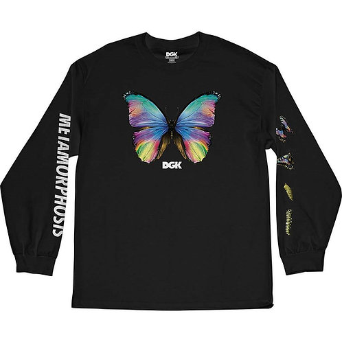 DGK METAMORPHOSIS L/S TEE BLACK