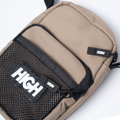 HIGH COMPANY Shoulder Bag Label Beige