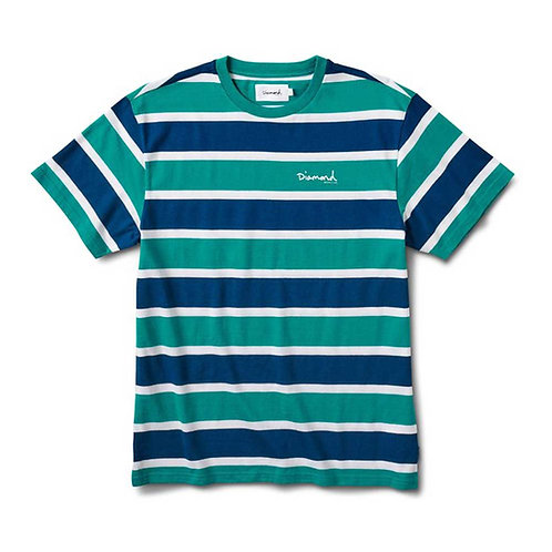 Diamond Supply Co. MINI OG SCRIPT STRIPED TEE TEAL