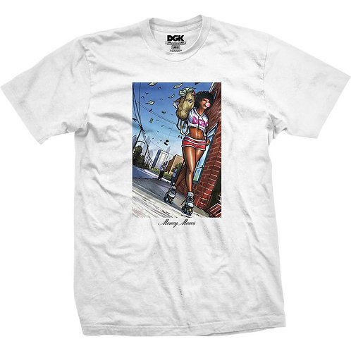 DGK MONEY MOVES TEE WHITE