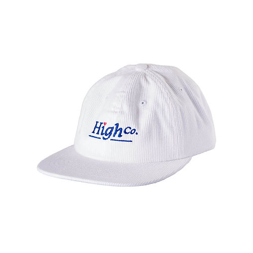 HIGH COMPANY 6 Panel Corduroy Lovely White