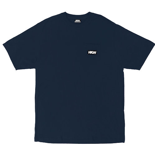 HIGH COMPANY Tee Pocket Label NAVY