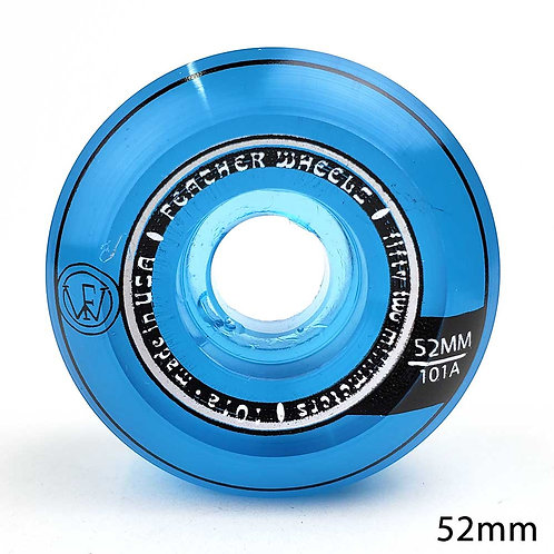 FEATHER WHEEL CONICAL CLEAR BLUE 52mm 101A