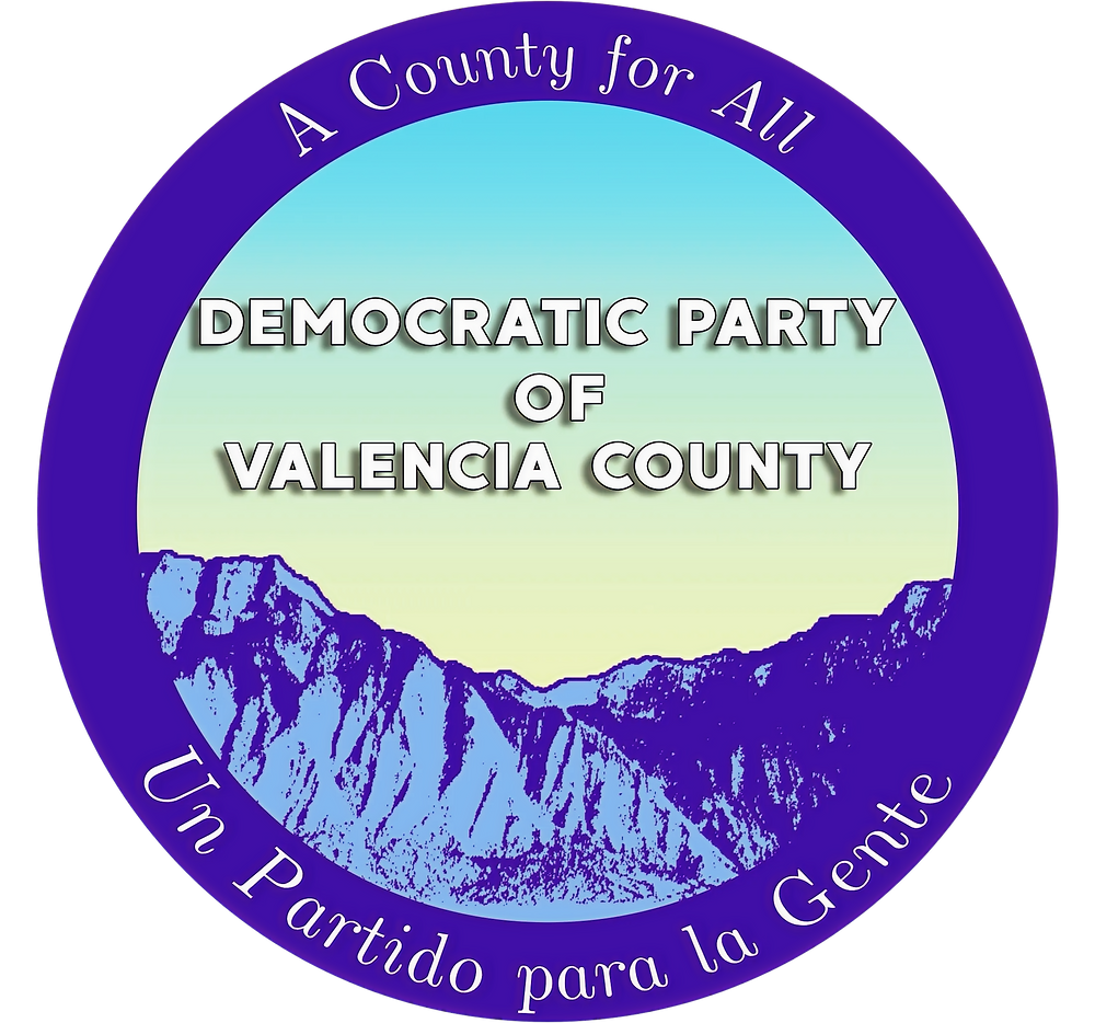 Logo and motto of the Democratic Party of Valencia County