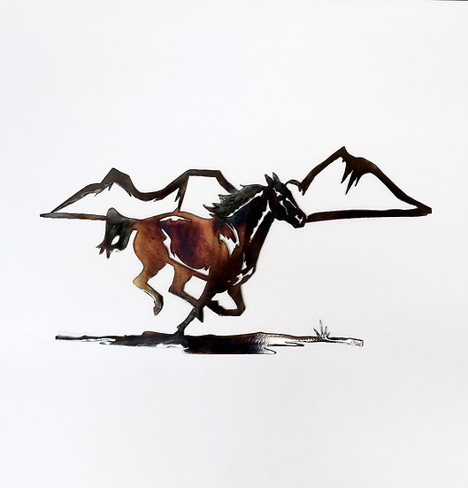 Single Running Horse