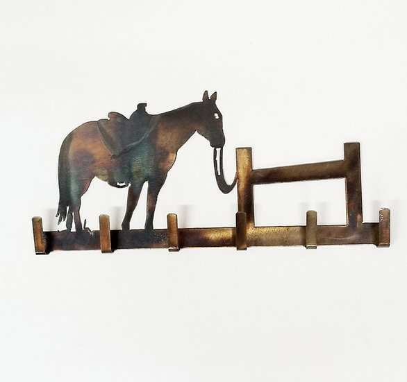Key Holder with Horse 'n' Hitchin' Post