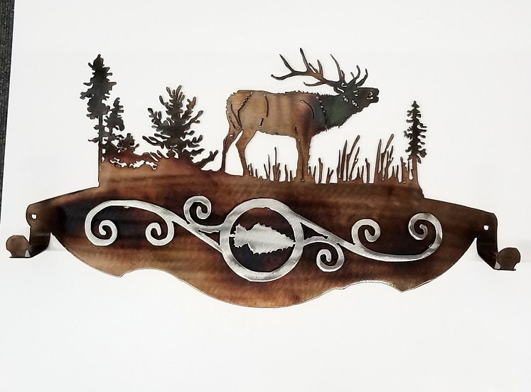 Bow Hanger with Elk