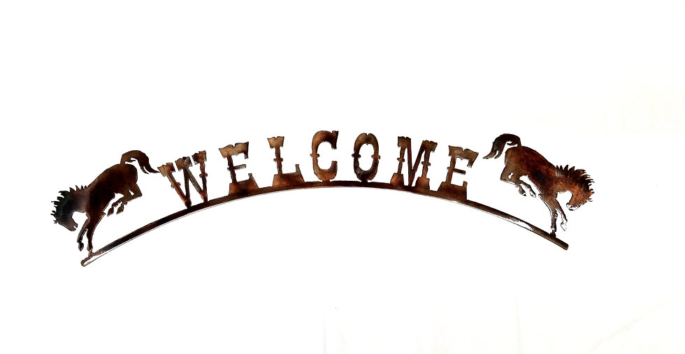 Bronc Welcome Arch