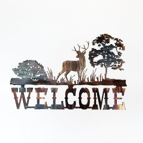 Mule Deer Welcome Sign