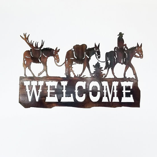 Packin' Out Welcome Sign