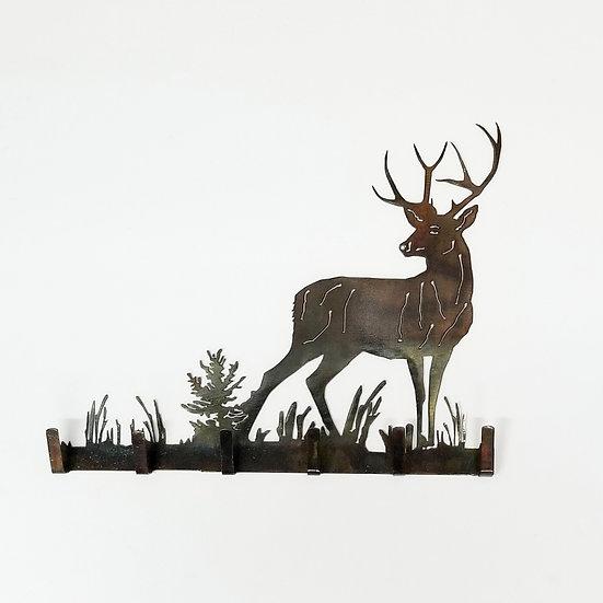 Key Holder with Mule Deer Buck