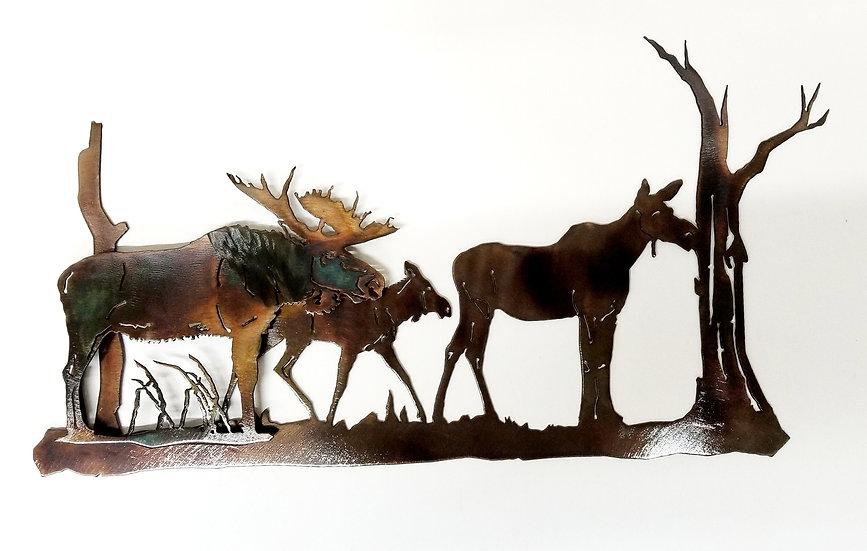 3D Bull Moose Scene