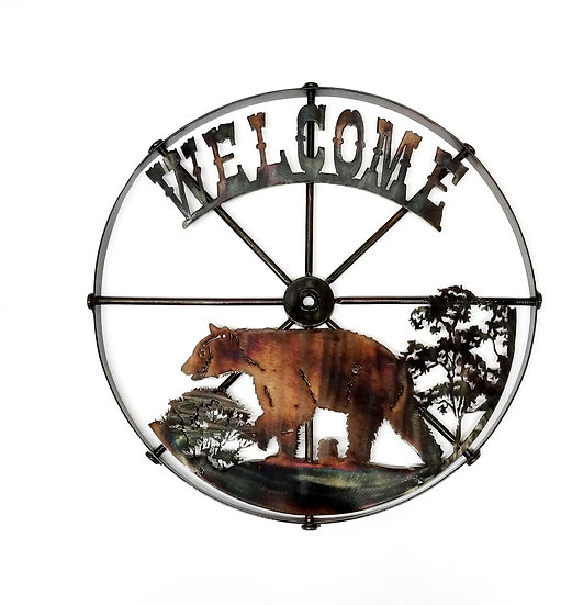 Small Wheel with Bear & Welcome