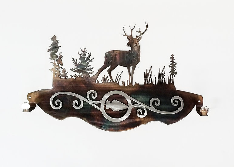 Bow Hanger with Deer