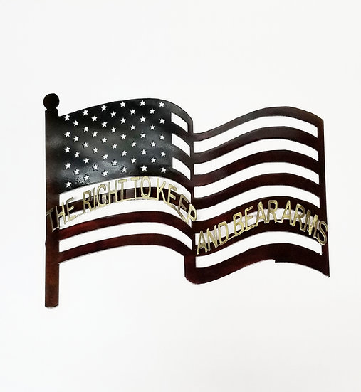 American Flag with 2nd Amendment
