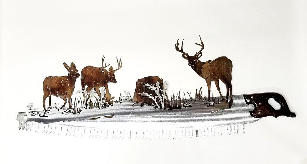 Big Saw with Mule Deer
