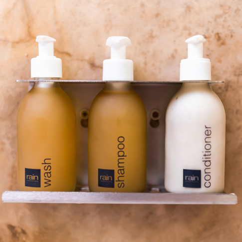100% Natural Rain amenities in all the rooms.