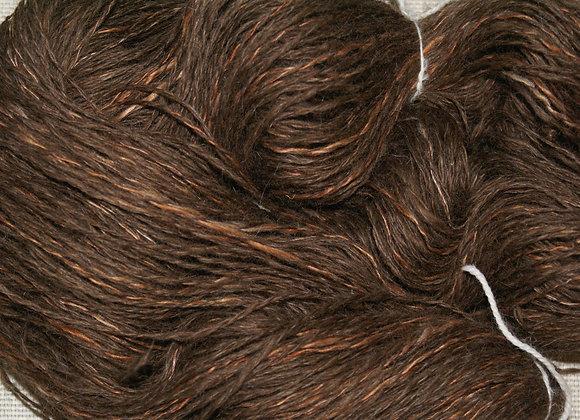 Echeveau de laine islandaise 100 % marron filé mainf