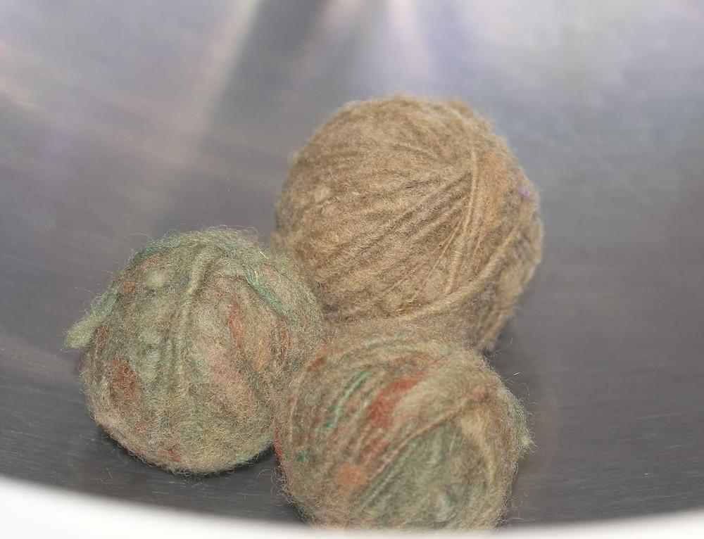 Balles de séchage en laine feutrée
