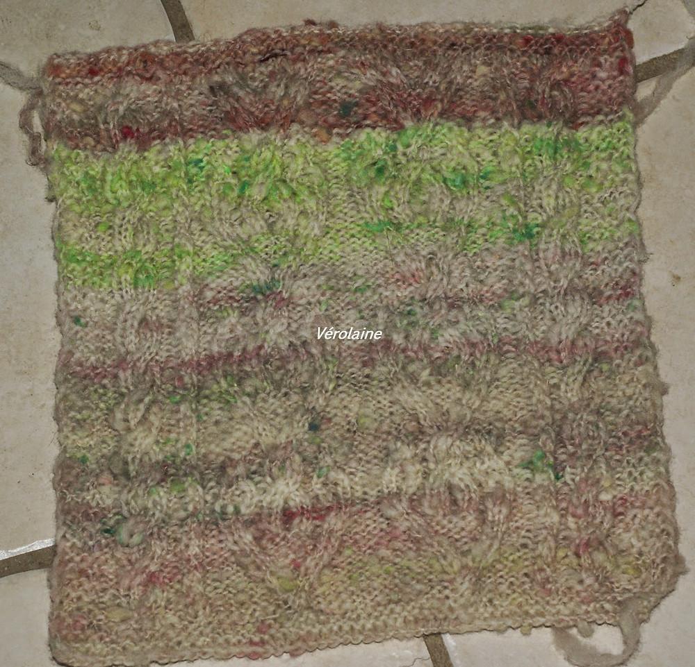 carré afghan laine multicolore