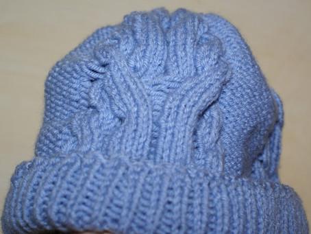 Explication bonnet torsade bleu ( adulte et enfant )