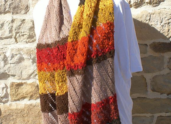 Chale rectangulaire aux couleurs d'automne