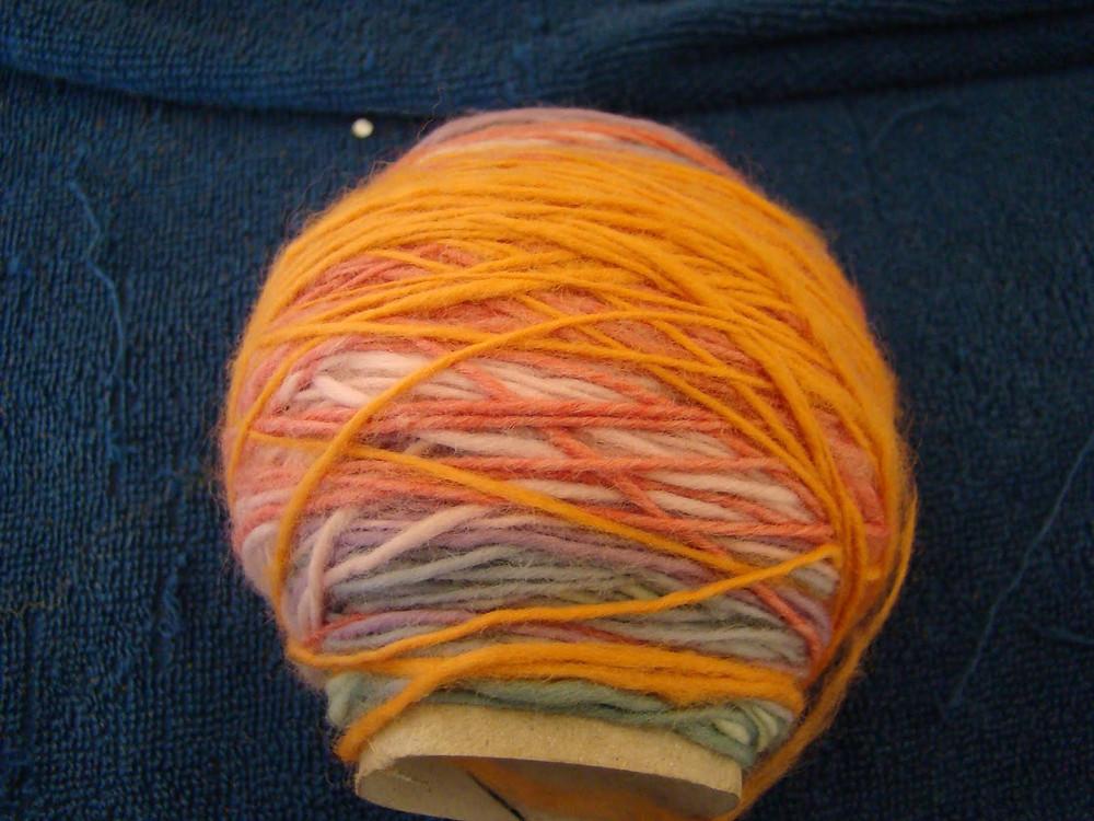 50 g de mérinos multicolores filé main