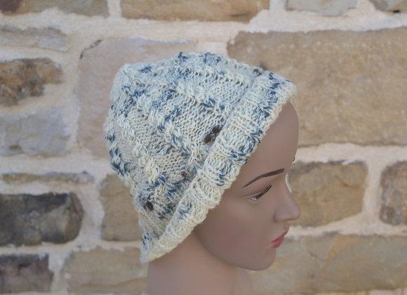 bonnet blanc laine de pays solognote
