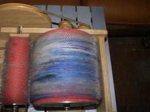 Les mélanges de fibres filés main