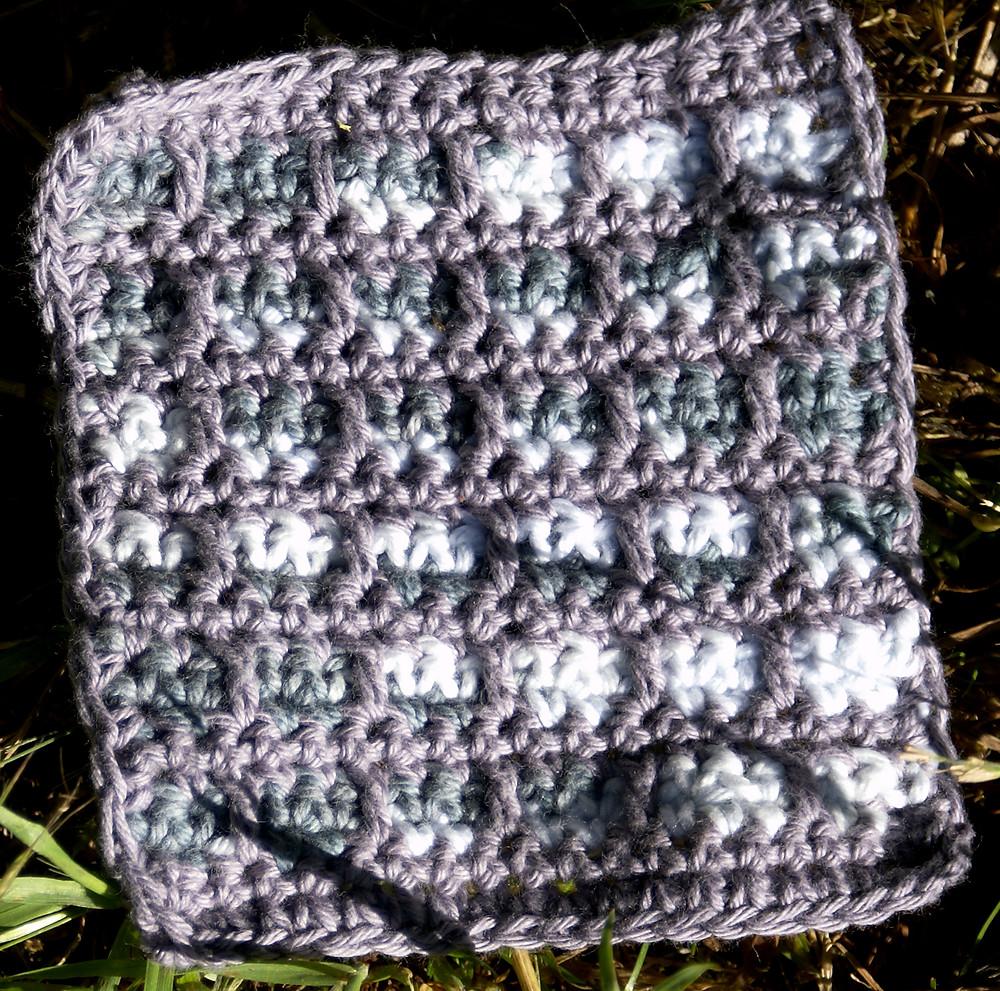 Dessous de verre en coton crochet mosaic