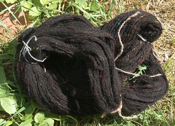 écheveau laine Ouessant noire