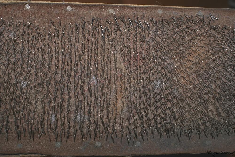 Détail tapis cardes anciennes