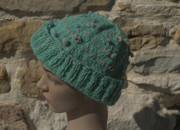 bonnet laine de pays vert