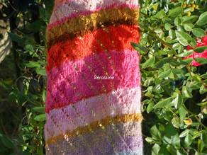 Echarpe multicolore diagonale