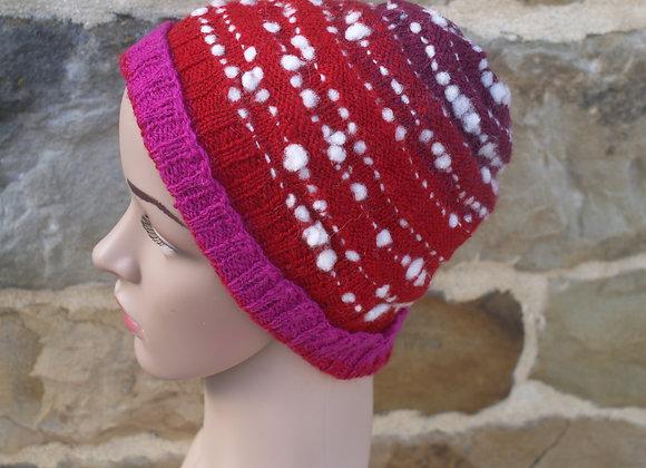 bonnet mérinos rouge