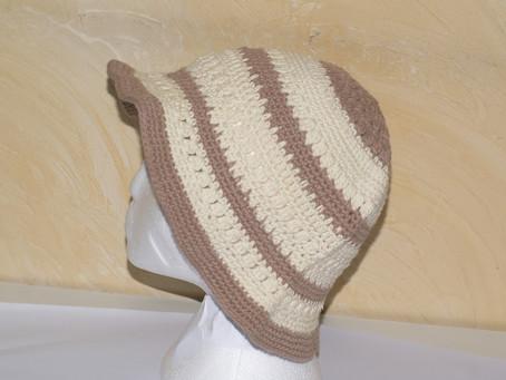 Modèles chapeaux de soleil en coton au crochet