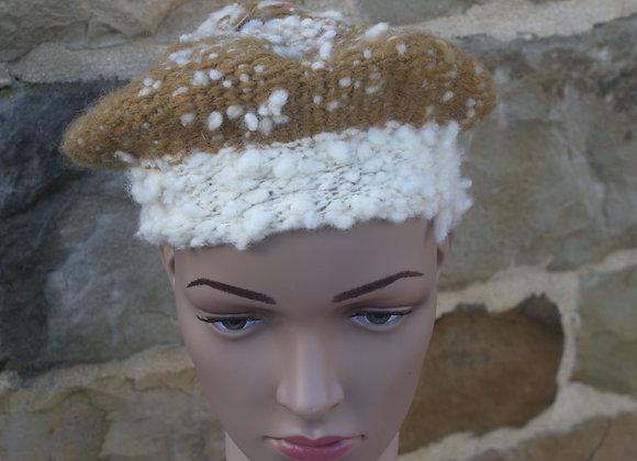 toque en pure laine tissée