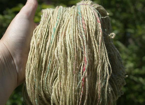 Echeveau de laine mérinos et laine de pays