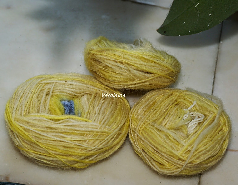 wool dyed with food yellow